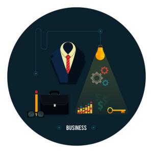 Business concept. Tools, interier, online, documents